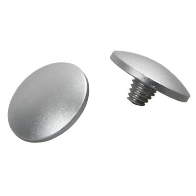 2X Convex Silver Soft Shutter Release Button For Camera With Mechanical Shutter
