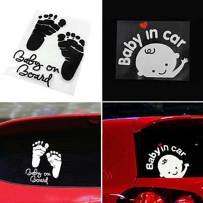 "New ""Baby in car"" Baby on Board Child Window Bumper Car Sign Decal Vinyl Sticker"