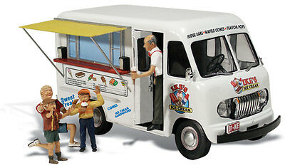 Ike's Ice Cream Truck - N MODEL TRAINS - Fully painted and assembled.