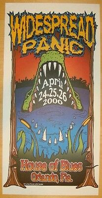 Widespread Panic Poster 2000 Orlando, FL Signed Artist Proof Rare!!! Sold Out!!!