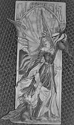 Angel on a Horse Plaque, Latex Craft Mould Ornament Reusable Art & Crafts Hobby
