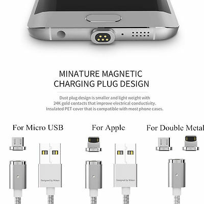 WSKEN 2 in 1 Micro USB  X-Cable Mini 2 Magnetic Charge Cable For iPhone &Andriod