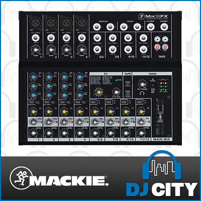 Mackie Mix 12FX Compact Portable PA Mixer 12 Channel Input with Digital FX- D...