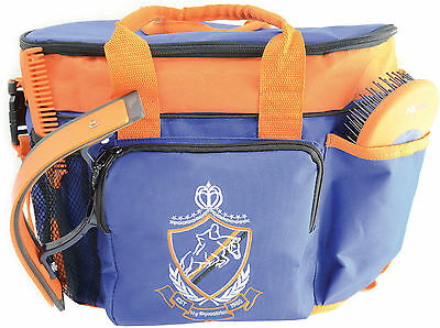 HySHINE Pro Complete Grooming Bag - Horse Grooming Kit Bag Including 7 Brushes