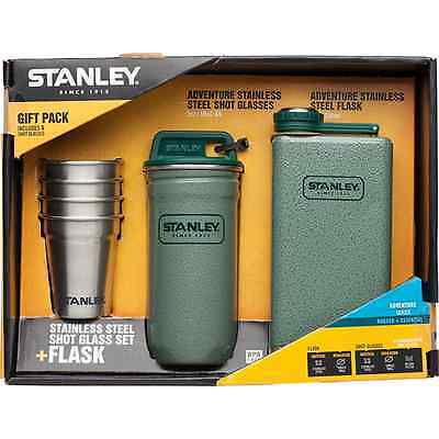 Stanley Stainless Steel Shot Glass Set + Flask Gift Set