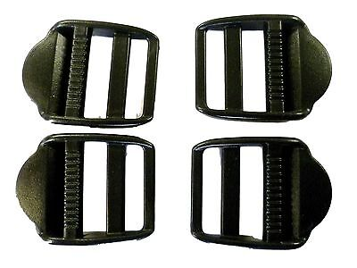 BLACK Plastic LADDER LOCKS Fasteners Buckles 25 mm 1 Inch Wide Various Quantitys