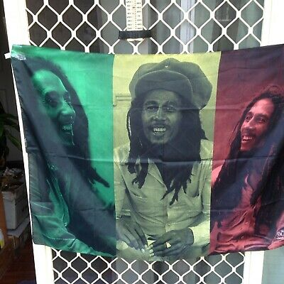 Bob Marley Collage  Music Textile  Flags Wall Hanger Made In Italy Licensed
