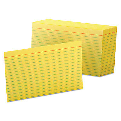 Oxford Ruled Index Cards 4 x 6 Canary 100/Pack 7421CAN