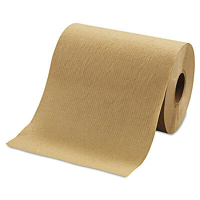 "MORCON Hardwound Roll Towels 8"" x 350ft Brown 12 Rolls/Carton R12350"