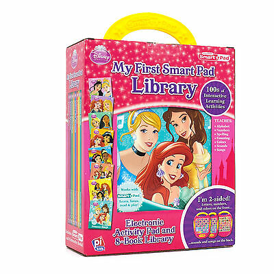 New Disney Princess My 1st Smart Pad Library 8 Book Library 100's of Activities