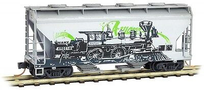 Micro-Trains MTL N-Scale 2-Bay Covered Hopper NAHX/Aware Graffiti #490218