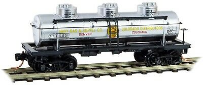 Micro-Trains MTL N-Scale 3-Dome Tank Car Navy Gas & Supply/CTTX/Shell Oil #8511