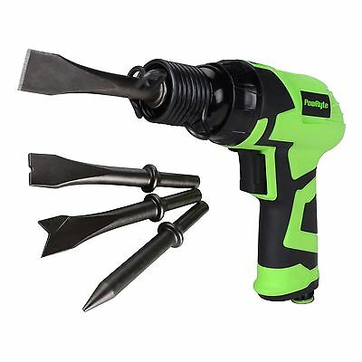 PowRyte Elite Composite Short Stroke Air Hammer with 4 Chisels