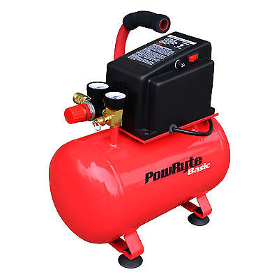 PowRyte Basic 3 Gallon Oil-Free Hotdog Portable Air Compressor - 100 PSI