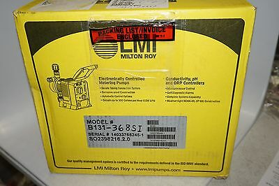new LMI Milton Roy B131-368SI Electronically Controlled Metering Pump, 50 PSI