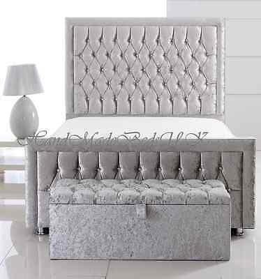 Special Princess Upholstered Crushed Velvet/PVC/Chenille Beds+Blanket Box cheap