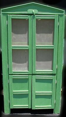 Antique Primitive Pie Safe Jelly Cupboard, Painted Green