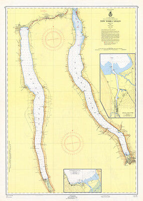 1956 Nautical Map of New York Finger Lakes