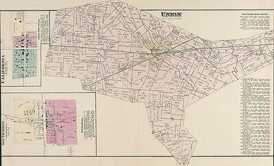 1875 Farm Line Map of Union Township Madison County Ohio