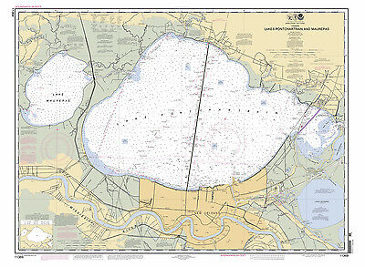 2012 Map of Lake Pontchartrain and Maurepas New Orleans