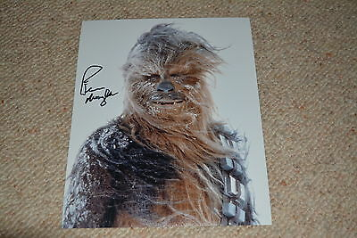 PETER MAYHEW signed Autogramm 20x25 cm In Person STAR WARS Chewbacca