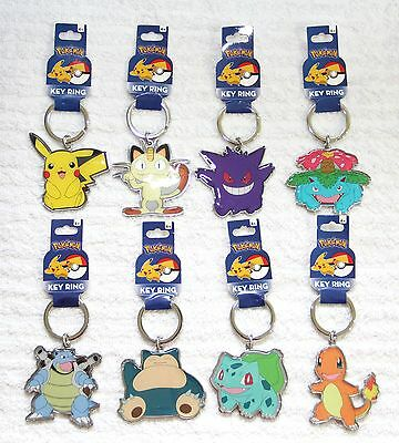 Pokemon Metal Key chains Key Rings keyring: Pikachu, BLASTOISE, Charmander...etc