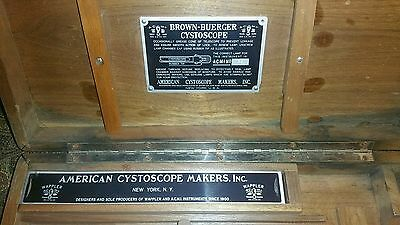 """Vintage 1930's Brown-buerger cystoscope box """"American cystoscope makers, Inc."""""""