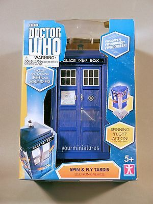 NIP BBC Doctor Who Spin and Fly Tardis.  light and sound fx