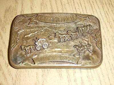 VERY RARE 1973 Dustys Trail CAST CREW ONLY Belt Buckle Sherwood Gilligan FOY III