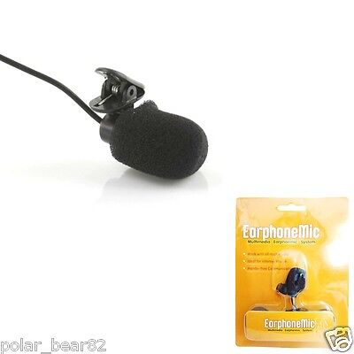 COMS Clip Style Microphone IT053 Portable Mini 3.5mm Clip On Microphone Black