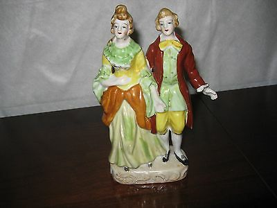 """Lovely Vintage Figurine of Man & Woman Made in Occupied Japan 7-1/2"""" x 4"""""""