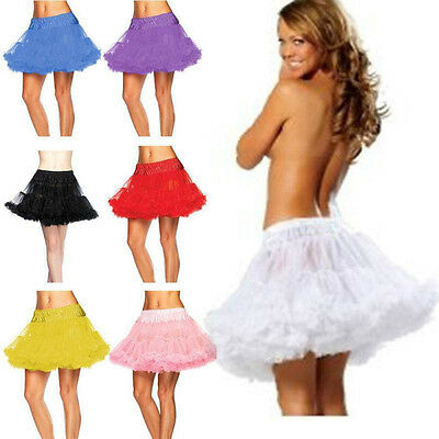 2 Layer Leg Avenue Sexy Womens Layered Soft Tulle Petticoat Skirt Tutu Costume**