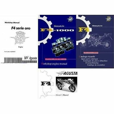 MV Agusta F4 Service & Parts Manual on a CD