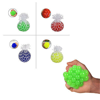 Novelty Hand Mesh Anti Stress Face Reliever Grape Ball Autism Mood Squeeze Toy