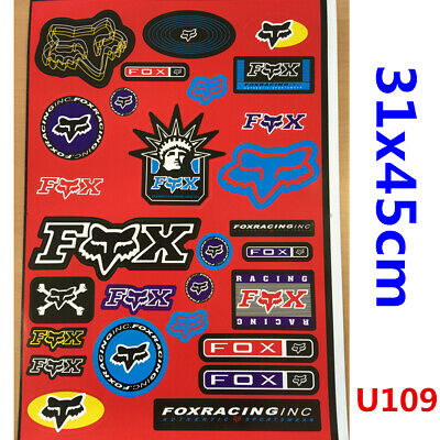 FOX Sticker Decal Car Motorised Bike Dirt ATV Quad Motorcycle Motocross Scooter