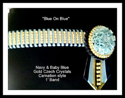 Double Blue Pony size Stunning Browband special