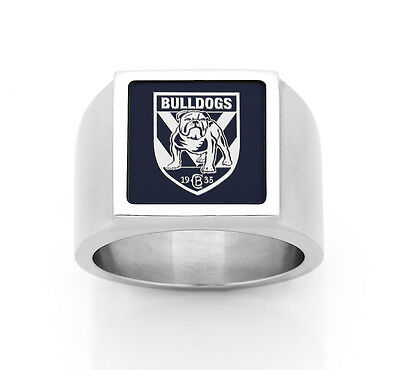 Canterbury Bulldogs NRL RING Stainless Steel Etched Fathers Day Christmas Gift