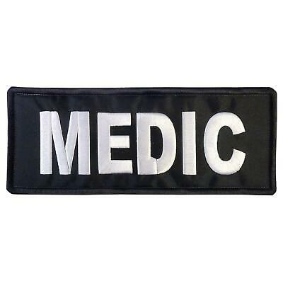 MEDIC Big XL 10x4 inch embroidered EMT PARAMEDIC embroidery hook-and-loop patch