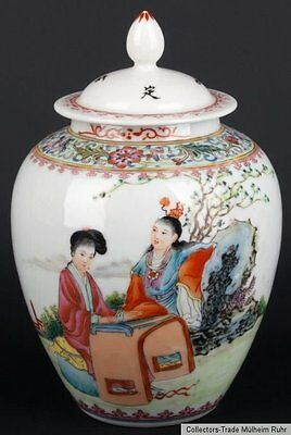 China 20. Jh. Deckeldose - A Chinese Famille Rose Jar & Cover - Cinese Chinois