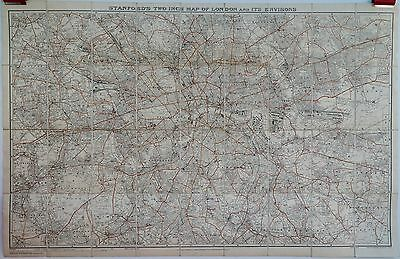 Antique maps, Stanford's two inch map of London, 1942