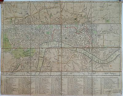 Antique maps, A new and accurate plan of London ..., J Harris, 1788