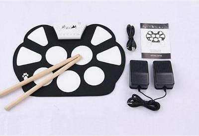 New Portable Silicon Foldable Musical Instrument Electronic Roll-up Drum Kit