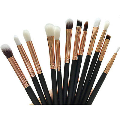 Cosmetic Eyeshadow Brushes Set Powder Foundation Lip Makeup 12PCS Brush Tool