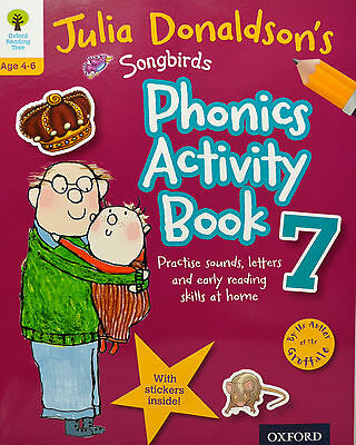 Phonics Activity Book 7 julia donaldson stickers practice sounds letters reading