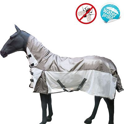 Pony Horse Lightweight Waterproof Turnout Ful Neck Fly Rug New Summer Rain Cover