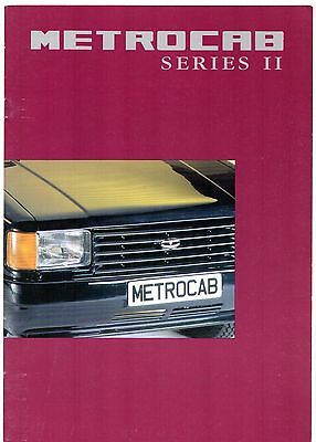 Metrocab Series II Taxi c 1995-96 UK Market Sales Brochure