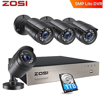 ZOSI 8CH 720P DVR Outdoor Security Camera System Network Motion Detection P2P