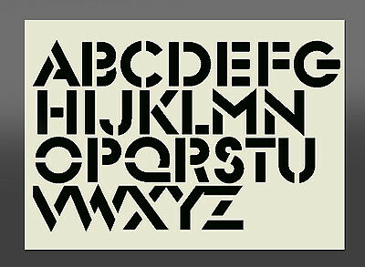 Alphabet Stencil - Various Font Sizes - Made From High Quality Mylar