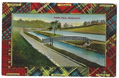 MOTHERWELL Public Park, Postally Used 1917