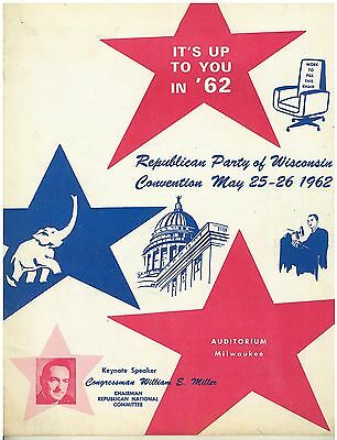 1962 Wisconsin Republican State Convention Program